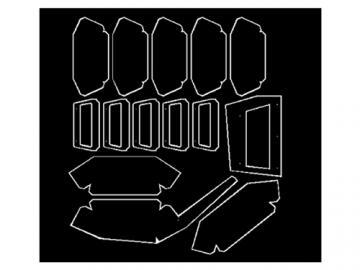 Winkelspiegel für verschiedene BW Panzer Maßstab 1:10