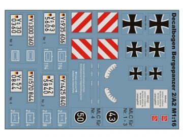 Decalsatz Bergepanzer 2/A2