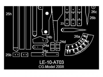 Ergänzungsbogen für Leopard 1 - Bergepanzer Standard 1:10
