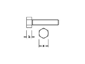 Sechskantschraube Stahl M2,K 1,4mm - S 3mm