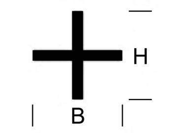 Kreuz Profil Messing
