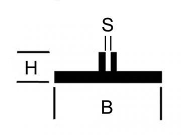 Flansch Profil Messing