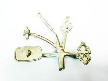 Wiesel Spiegel + Stange + Scharnier + Hupe + Antennensockel