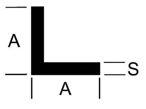 L - Profil Messing gleichschenkelig