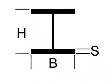 H Profil Messing