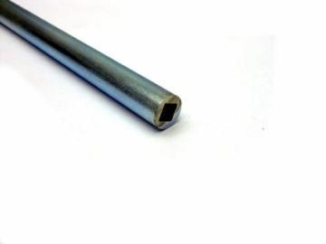 Stahlrohr verzinkt mit Innenprofil Typ 4 Kant 12mm