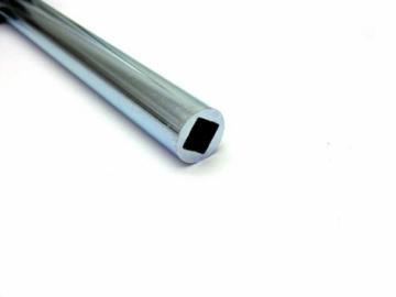 Stahlrohr verzinkt mit Innenprofil Typ 4 Kant 14mm