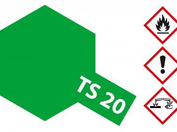 Tamiya Acryl Sprühfarbe TS-20 Metallic Grün glänzend