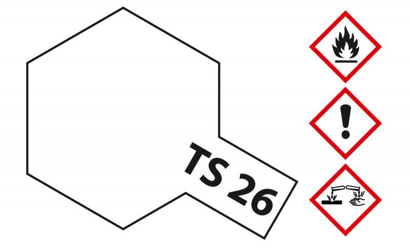 Tamiya Acryl Sprühfarbe TS-26 Weiss glänzend