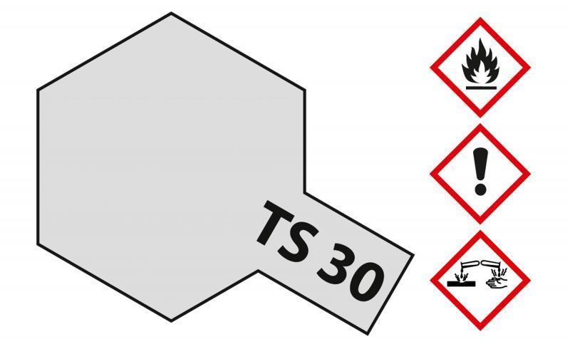 Tamiya Acryl Sprühfarbe TS-30 Metallic Silber glänzend