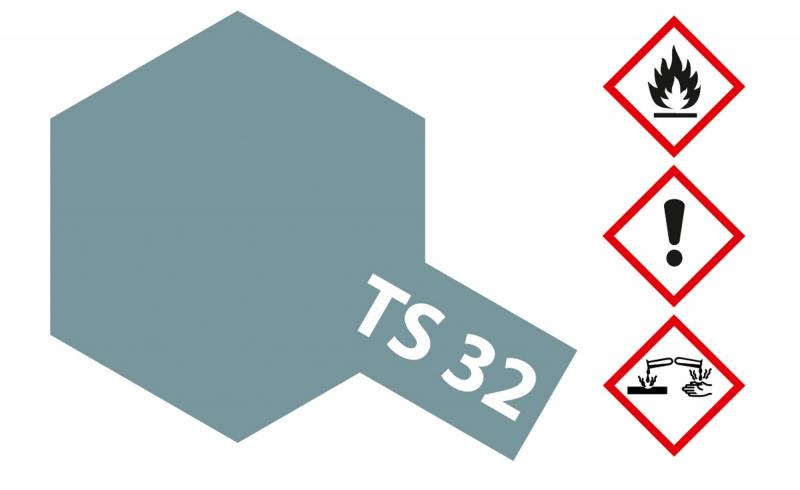 Tamiya Acryl Sprühfarbe TS-32 Nebelgrau matt