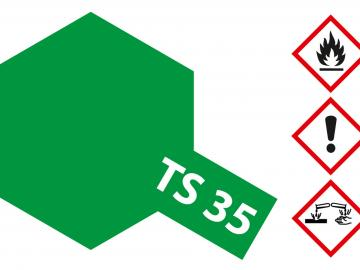 Tamiya Acryl Sprühfarbe TS-35 Parkgrün glänzend