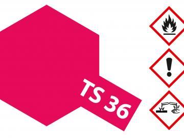 Tamiya Acryl Sprühfarbe TS-36 Neon-Rot glänzend