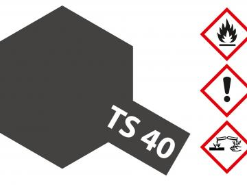 Tamiya Acryl Sprühfarbe TS-40 Metallic Schwarz glänzend