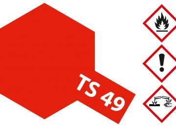 Tamiya Acryl Sprühfarbe TS-49 Rot Hell glänzend