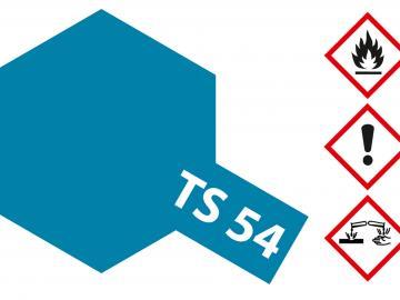 Tamiya Acryl Sprühfarbe TS-54 Metallic Blau Hell glänzend