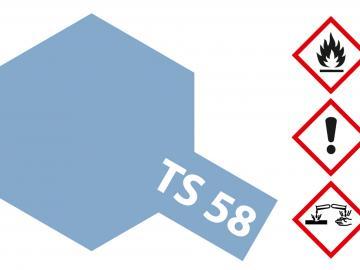 Tamiya Acryl Sprühfarbe TS-58 Hellblau Perleffekt glänzend