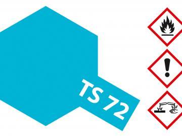 Tamiya Acryl Sprühfarbe TS-72 Blau Transparent/Klar glänzend