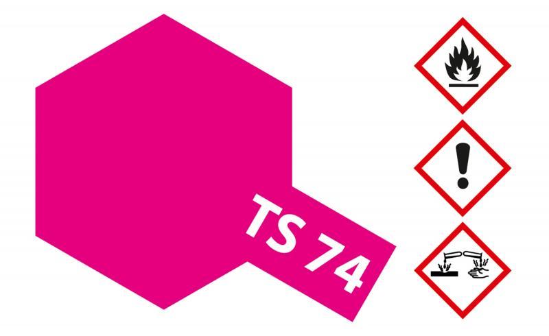 Tamiya Acryl Sprühfarbe TS-74 Rot Transparent/Klar glänzend
