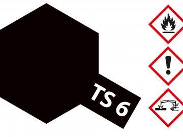 Tamiya Acryl Sprühfarbe TS-6 Schwarz matt