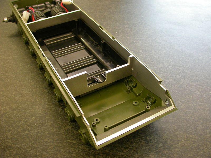 Wannenversteifung für Tamiya Leopard 2 1:16