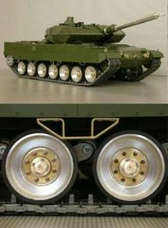 Laufrollenset Metall Leopard 2
