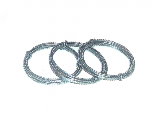 Drei Stacheldrahtrollen ca. 3 x 100 cm Metall Verzinkt