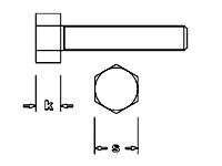 M 1,6 - K 1,2mm - S 2,5mm Stahl