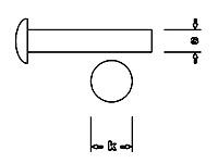 Niete, S 0,6mm x 6mm - K 0,9mm