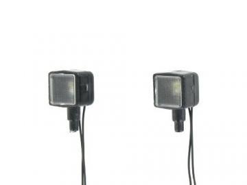 Rechteckscheinwerfer mit Beleuchtung 7,2 Volt