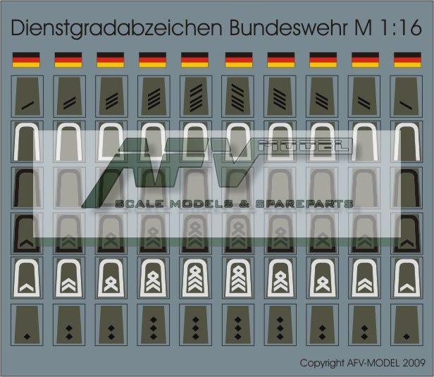 Decalsatz Dienstgrade Bundeswehr