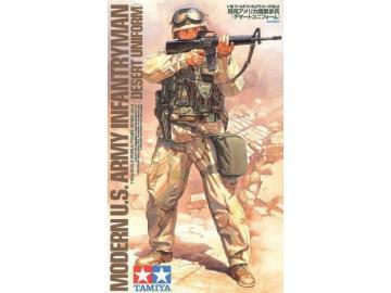 TAMIYA U.S. Army Infanterist Wüsten Uniform   Kunststoff Figur Bausatz 1/16